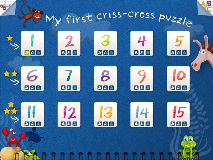 MotsFléchésAnglais KidschoolApp iPad 1