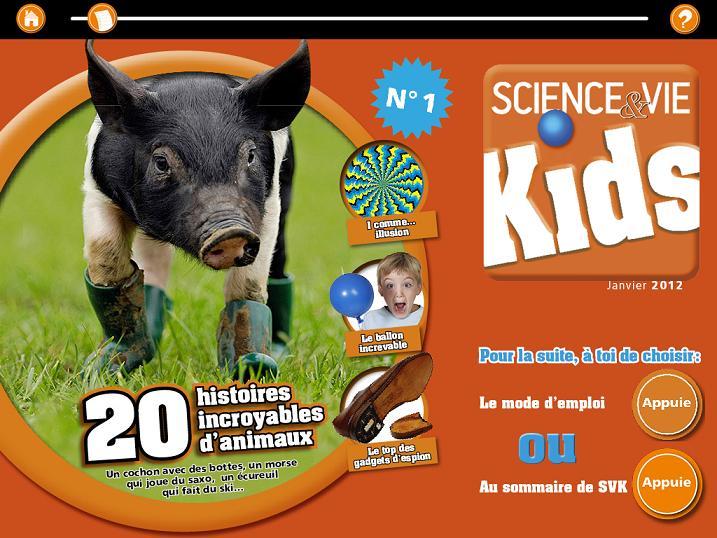 SciencetevieKids Mondadori Application iPad 2