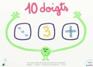 10 doigts Marbotic appli iPad chiffres 1