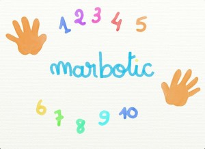 10 doigts Marbotic appli iPad chiffres 5