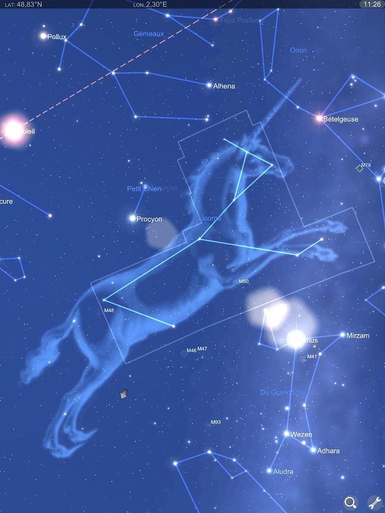application carte du ciel Carte du ciel Appli iPad 2 ⋆ La Souris Grise