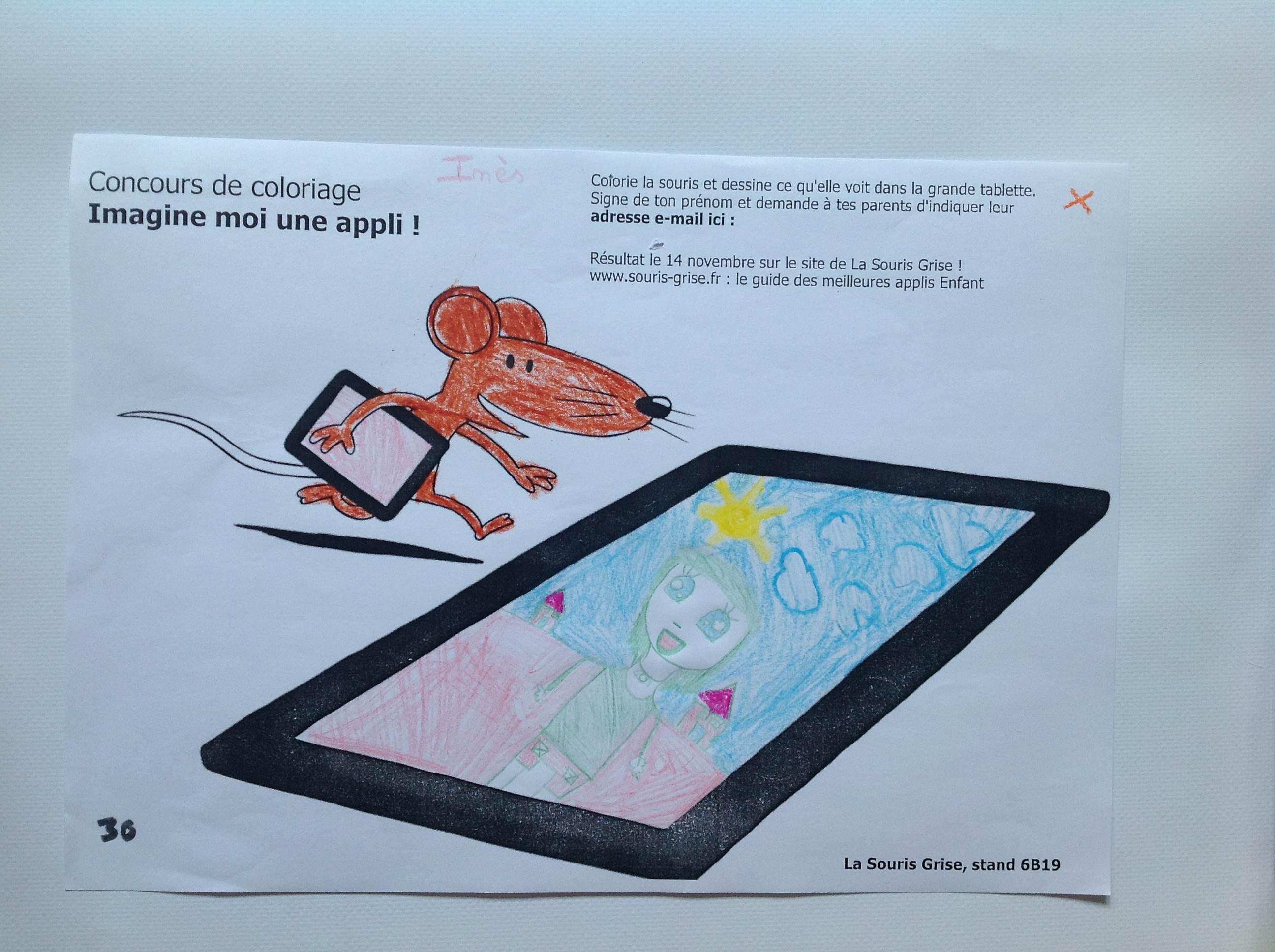 Concours De Coloriage Imagine Moi Une Appli Tous Les