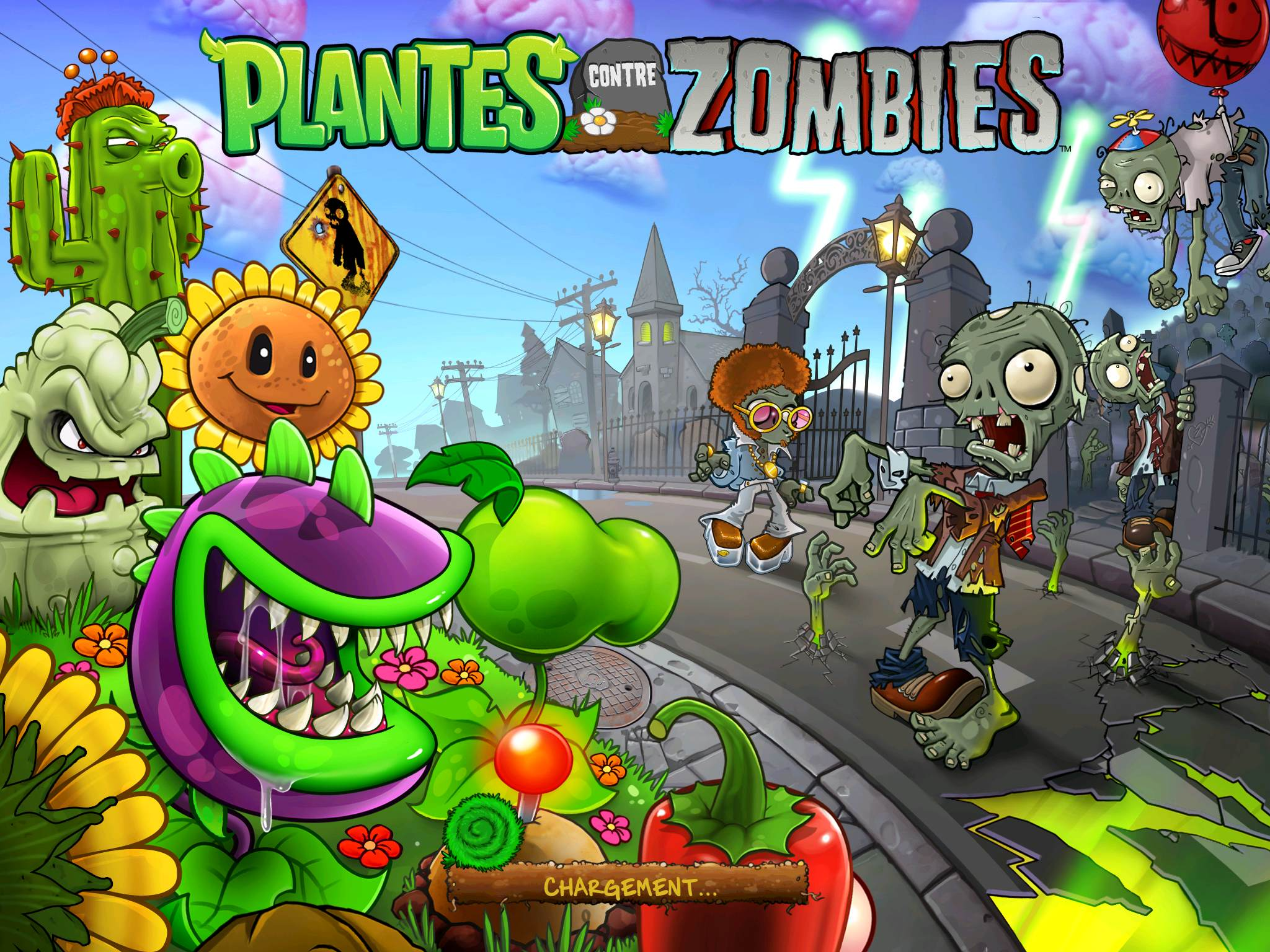 Plantes contre Zombies iPad Android Pop Cap 1