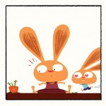 Monsieur lapin et la carotte sauvage tablette application iPhone Enfant La Souris Grise 4