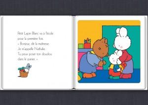Petit lapin  blanc application tablette Enfant La Souris Grise 1