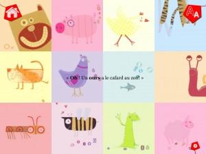 Animaux de A à Z GoodByePaper meilleure application pour enfants tablette La Souris Grise 3