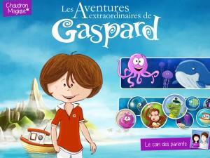 Aventures extraordinaires de Gaspard Chaudron magique application enfant tablette android apple la souris grise 5