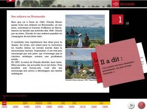 Joue avec Claude Monet application Dada tablette Enfant La Souris Grise 2