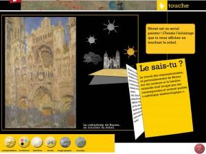 Joue avec Claude Monet application Dada tablette Enfant La Souris Grise 4