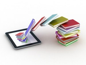 Books fly into your tablet, 3D