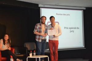 L'équipe d'Atomic Soom gagnante du grand prix du jury pour Potaoyz