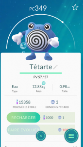 Têtarte Pokémon Go