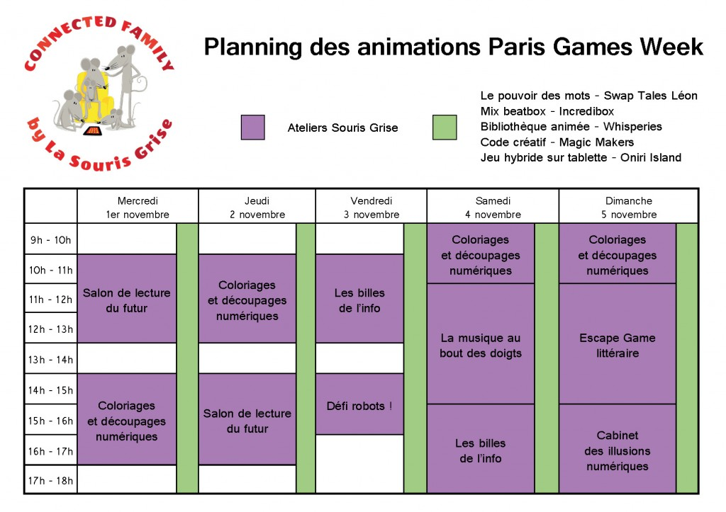 Plannig animations PGW