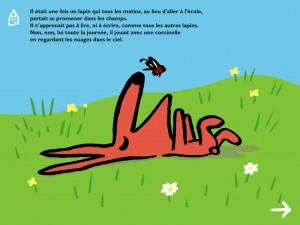 Les 3 histoires de lapin Europa Apps application iPhone iPad enfant tablette La Souris Grise 3