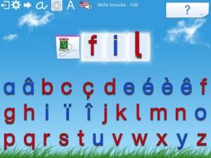 L'escapadou Dictée Montessori appli iPad iPhone 2