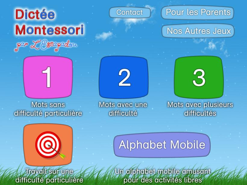 L'escapadou Dictée Montessori appli iPad iPhone 3