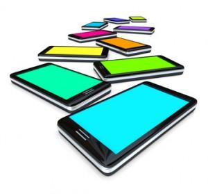 Smart Phones - Array of Colored Screens