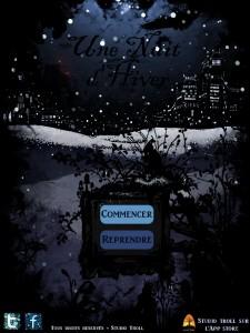Une nuit d'hiver appli iPad Studio Troll acceuil