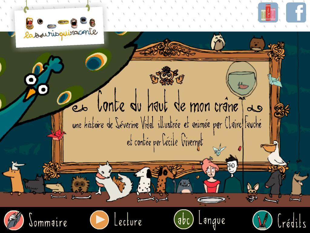 Conte du haut de mon crâne La souris qui raconte appli iPad Android 1