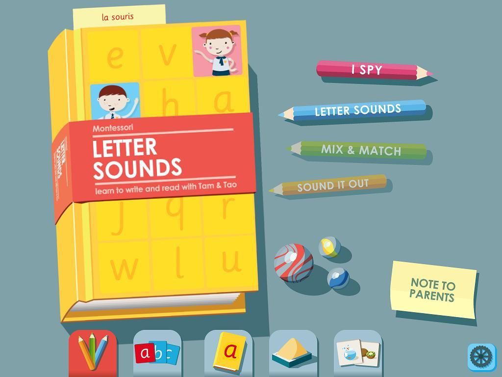 LetterSounds Son des Lettres 3 Elles Interactive Appli iPad Montessori 1