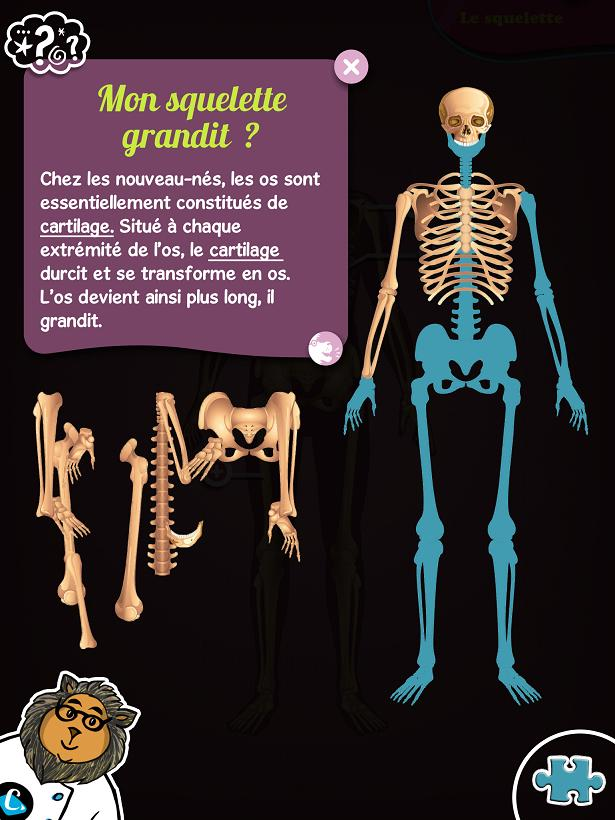 Chocolapps Explique Tom le corps humain iPad Denis Brogniart 7