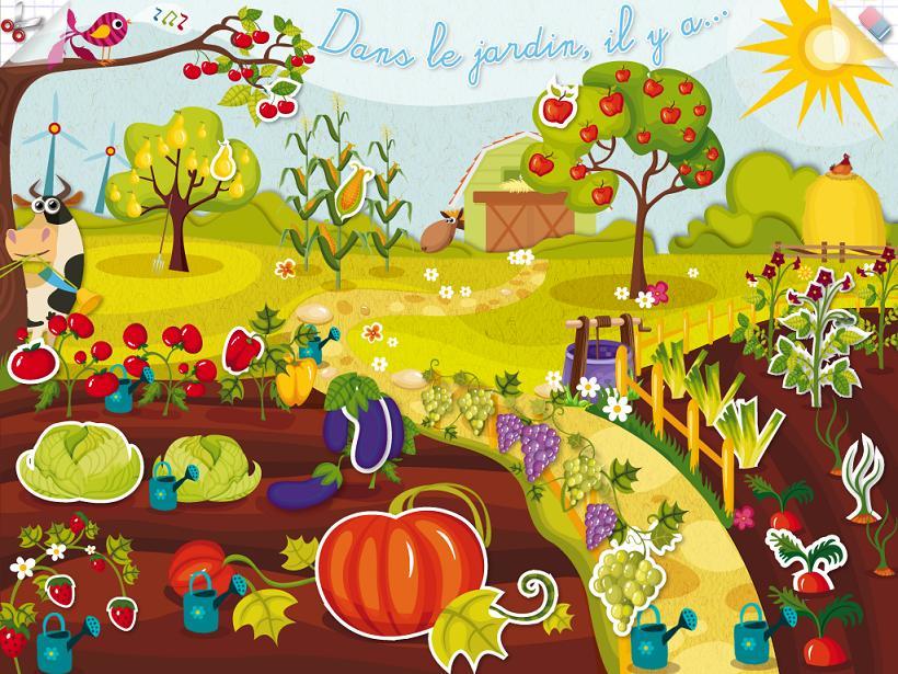 KidSchool Dans mon jardin Caroline Huet appli iPad 1
