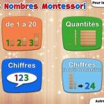 Nombres Montessori appli iPad L'Escapadou 1