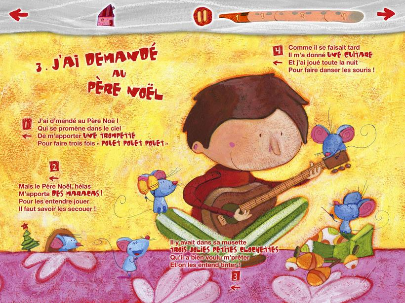 Chantons Noël Merle moqueur apps La Souris Grise 1