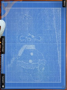 BluePrint 3 D la Souris Grise iPhone iPad 2