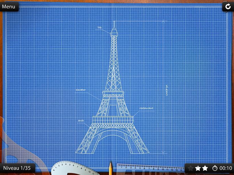 BluePrint 3 D la Souris Grise iPhone iPad