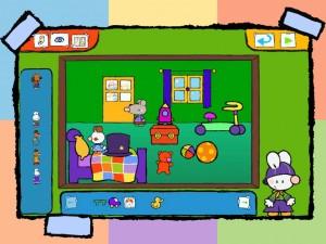Petit lapin  blanc application tablette Enfant La Souris Grise 3
