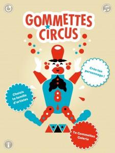 Gommette Circus application tablette iPad enfant Sarbacane La Souris Grise 1