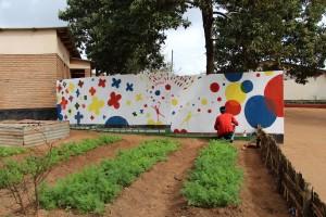 Mur Hervé Tullet à Jacaranda La Souris Grise