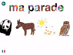 Parade mon imagier des animaux Etoiles éditions La Souris Grise 4