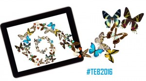butterfly flying out from tablet computer
